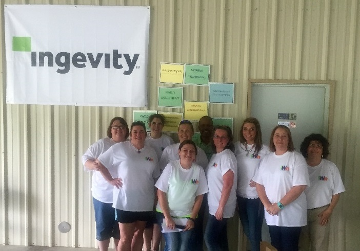 Ingevity employees pictured above (l to r): Annda Purdue, Sherry Istre, Kelly Lewis, Deanna Droddy, Stacey Nolen, Colton Isadore, Arlene Brooks, Jillian Holliday, Sally White, and Gracia Acosta.