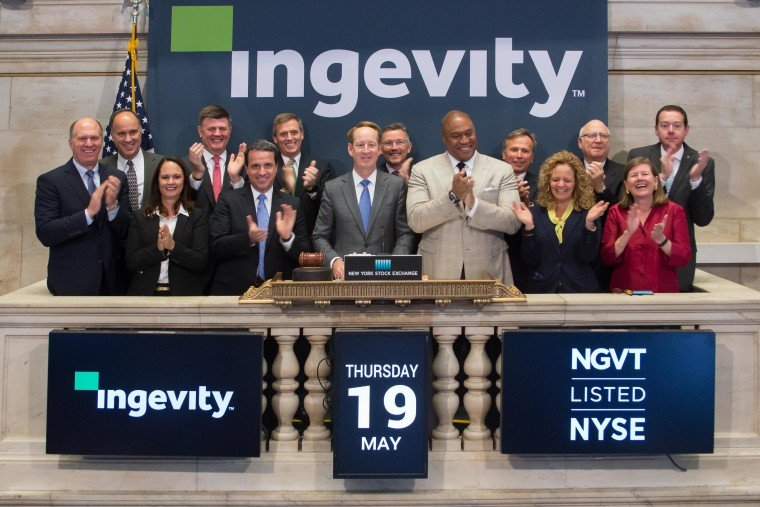 "Ingevity President and Chief Executive Officer, Michael Wilson, had the honor of ringing the opening bell this morning at the New York Stock Exchange. Ingevity common stock began ""regular"" trading on the New York Stock Exchange (NYSE) under the symbol ""NGVT"" on May 16, 2016. (Photo: NYSE)"
