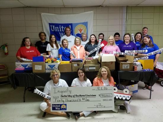 Ingevity employees and United Way of Southwest Louisiana volunteers.